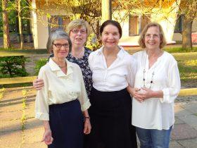 Walli,Christiane,Brigitte und Monika (von re.)
